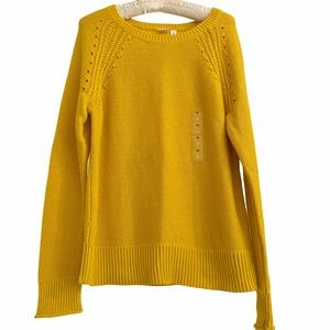 Gap Yellow Cotton Sweater New With Tag Medium